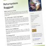 Nyhetsbrev Retursystem Byggpall december 2009